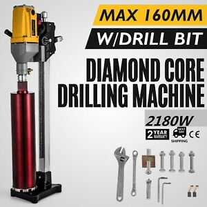 1650w Diamond Core Wet Drill Machine 80mm Capacity 2 Speed Gearbox