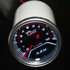"New 2"" 52mm Tachometer Tacho Gauge Meter Speed Analog Needle Smoke Tint Lens LED"