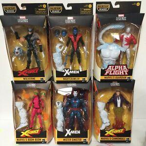 Marvel-Legends-X-Force-Wave-1-Set-of-6-Action-Figure-6-Inch-Wendigo-BAF-COMPLETE