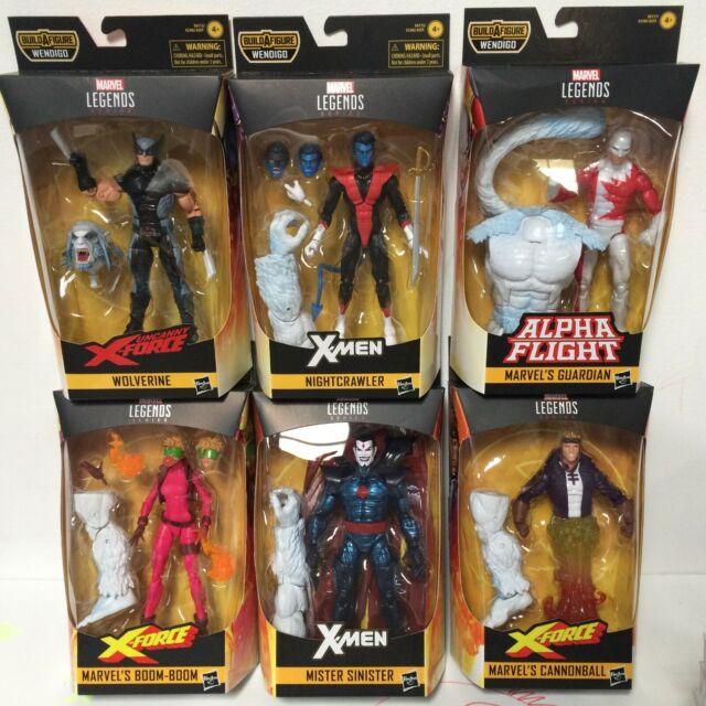 In Stock Marvel Legends X-Force Wave 1 Set of 6 Figures 6-Inch Wendigo BAF