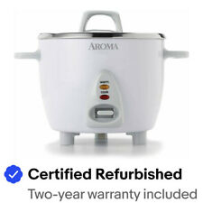 Aroma Rice Cooker 6-Cup 1.5Qt. Non-Stick  Model ARC-363NG Certified Refurbished