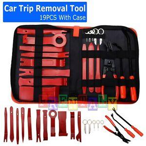 19Pc Car Trim Removal Tool Set Hand Tools Pry Bar Panel Door Interior Clip Kit