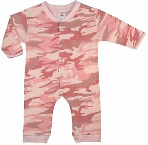 BABY-INFANT-LONG-SLEEVE-amp-LEG-PINK-CAMO-ONESY-67059