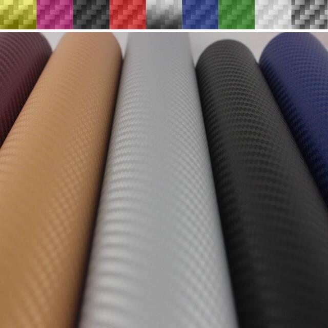 151cm x 100cm- 3D 4D 5D Carbon Fiber Car Vinyl Film Wrap Stickers Various Colors