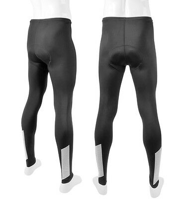 Men/'s 3M Scotchlite Reflective Slasher Cycling Biking Padded SpandexTights