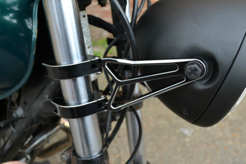 Headlight Brackets for Streetfighter Motorbike Project Black Fork Mounted 39mm