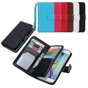 Pratico-Custodia-Cover-Flip-Portafoglio-Pelle-Per-Samsung-Galaxy-S6-edge-Note-4