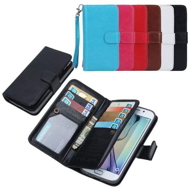 Pratico Custodia Cover Flip Portafoglio Pelle Per Samsung Galaxy S6 edge Note 4/