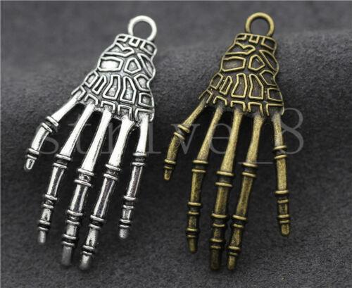 5//20//100pcs Tibetan Silver Exquisite Bone Claws Jewelry Charms Pendant 42x20mm