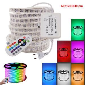 2-10M SMD 5050 LED Stripe Streifen Lichterkette Wasserdicht Lichtband 220V 230V