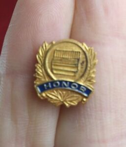 Vintage HONOR Music Choir Band School Button Pin Pinback QQ16-1