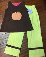 Crescent Moon Childrens Boutique Pumpkin (deer) Reversible Top/pants Set - 7