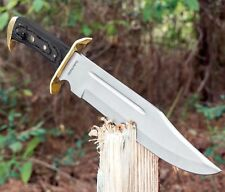 Timber Rattler Western Outlaw Full Tang Bowie Hunters Combat Knife 16 1/2 Knives