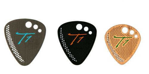 T1 Stainless Steel Bass Guitar Pick 3-Pack