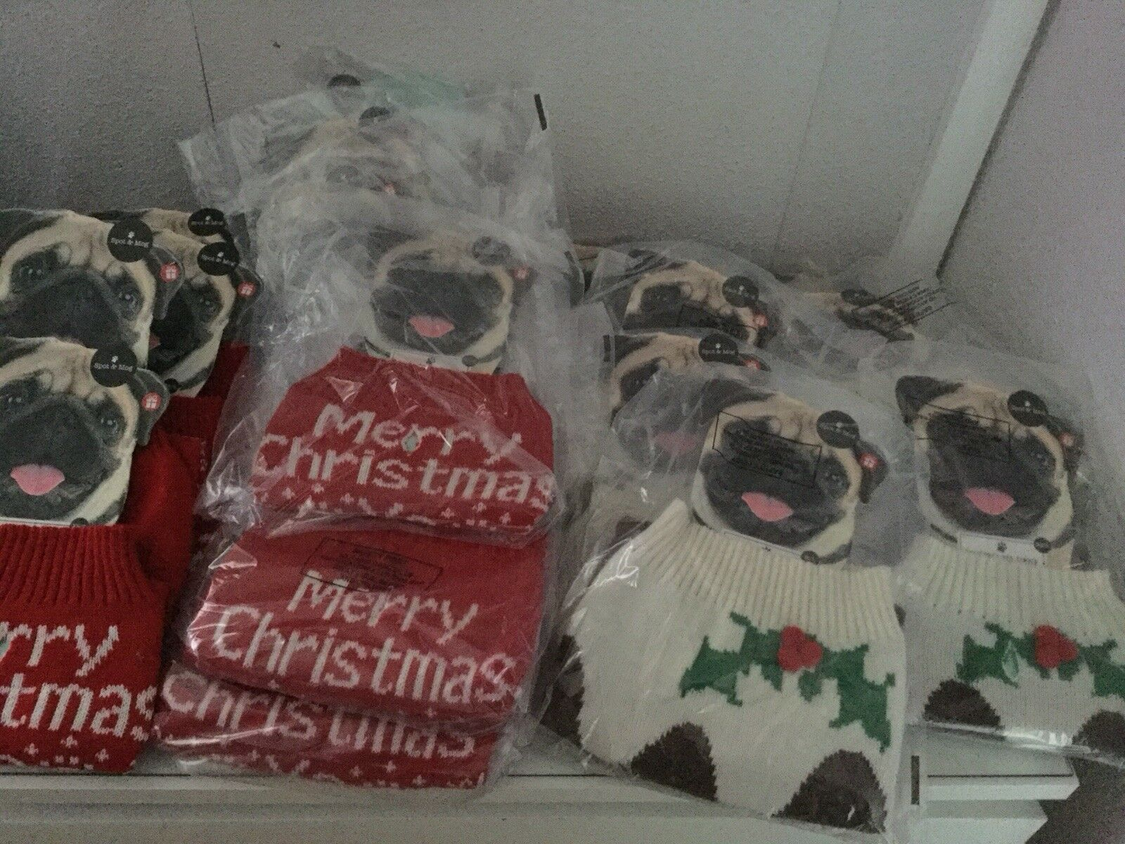 Huge Job Lot Bundle Dog Christmas Jumpers Stockings 'merry Christmas Pooch Resel
