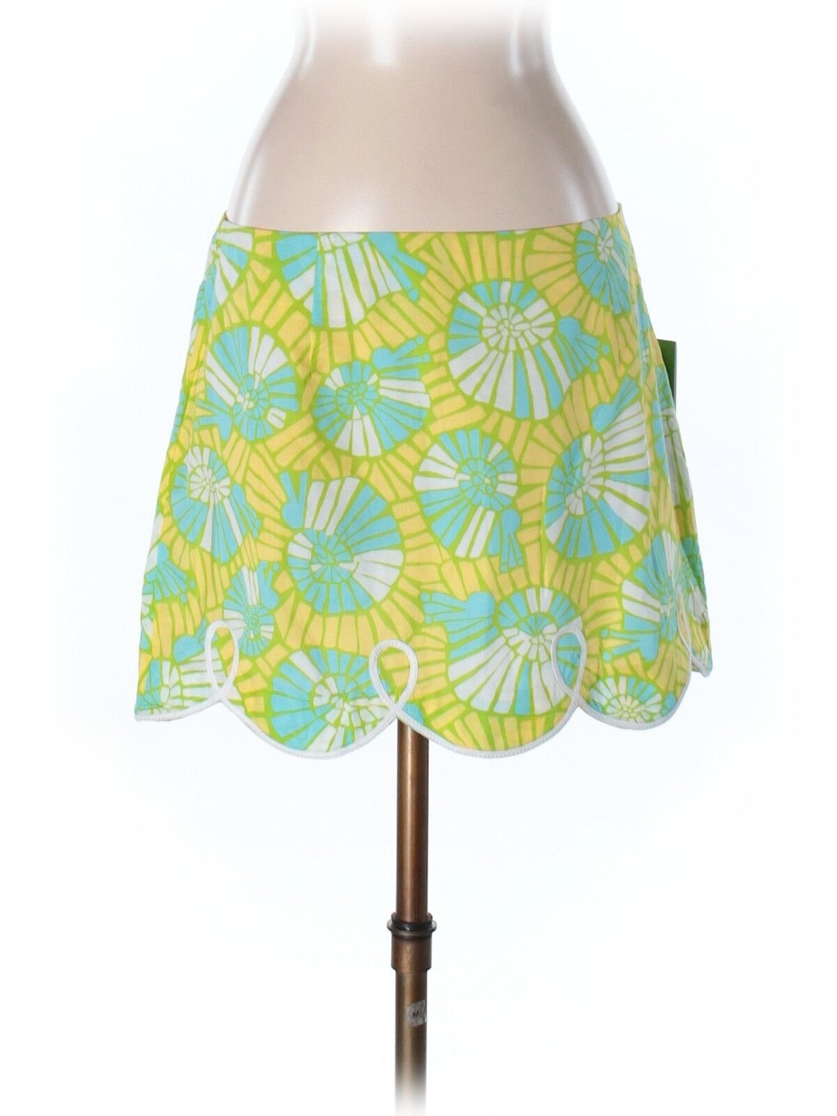 New Women Lilly Pulitzer Tate Scalloped On The Half Shell Skirt Size 4