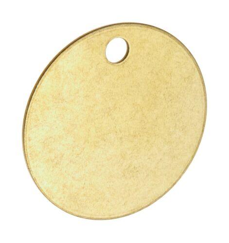 "1-1//2/"" Diameter B-907 Pack Of 25 Round Brass Tags Blank Valve Tags"