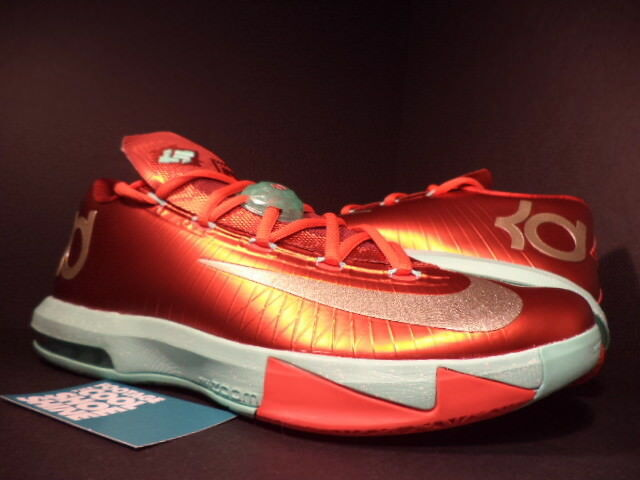 Nike Nike Nike Zoom Kevin Durant Kd Vi 6 Navidad Crimson oro Rojo verde 599424-601 Ds 10 7e5d11