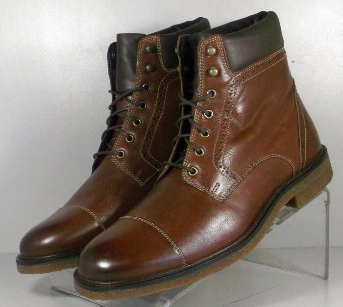 591382 SPBT50 Men's Boots Size 9 M Brown Leather Lace Up Johnston & Murphy