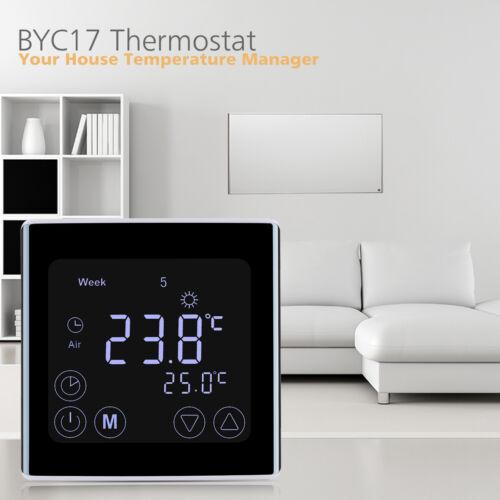 2//6 LCD Digital Thermostat Programmierbar FußBodenheizung 5 1//7 Tage Display