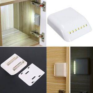 Special Section Battery Led Night Lamp Pir Infrared Motion Sensor Light Kitchen Drawer Cupboard Cabinet Light 1pc Furniture