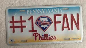 MLB-Philadelphia-Phillies-Baseball-1-FAN-Pennsylvania-License-Plate-NEW