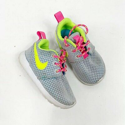 Nike Toddler Girls Roshe Athletic Sneaker Shoe Gray Pink ...