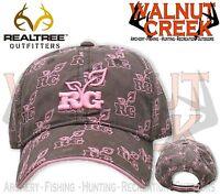 Realtree Girl Multi Rg Brown Logo Hat Cap Rg203br