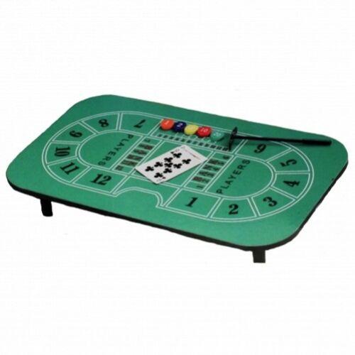 Casino-Tisch Blackjack Kartenspiele-Zocker-Tisch mit Filzbezug inkl. Zubehör