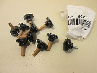 (10) DAVIES 3008BR Round Grip Knob 1/4-20 Clamp Knob Round Grip Black NEW