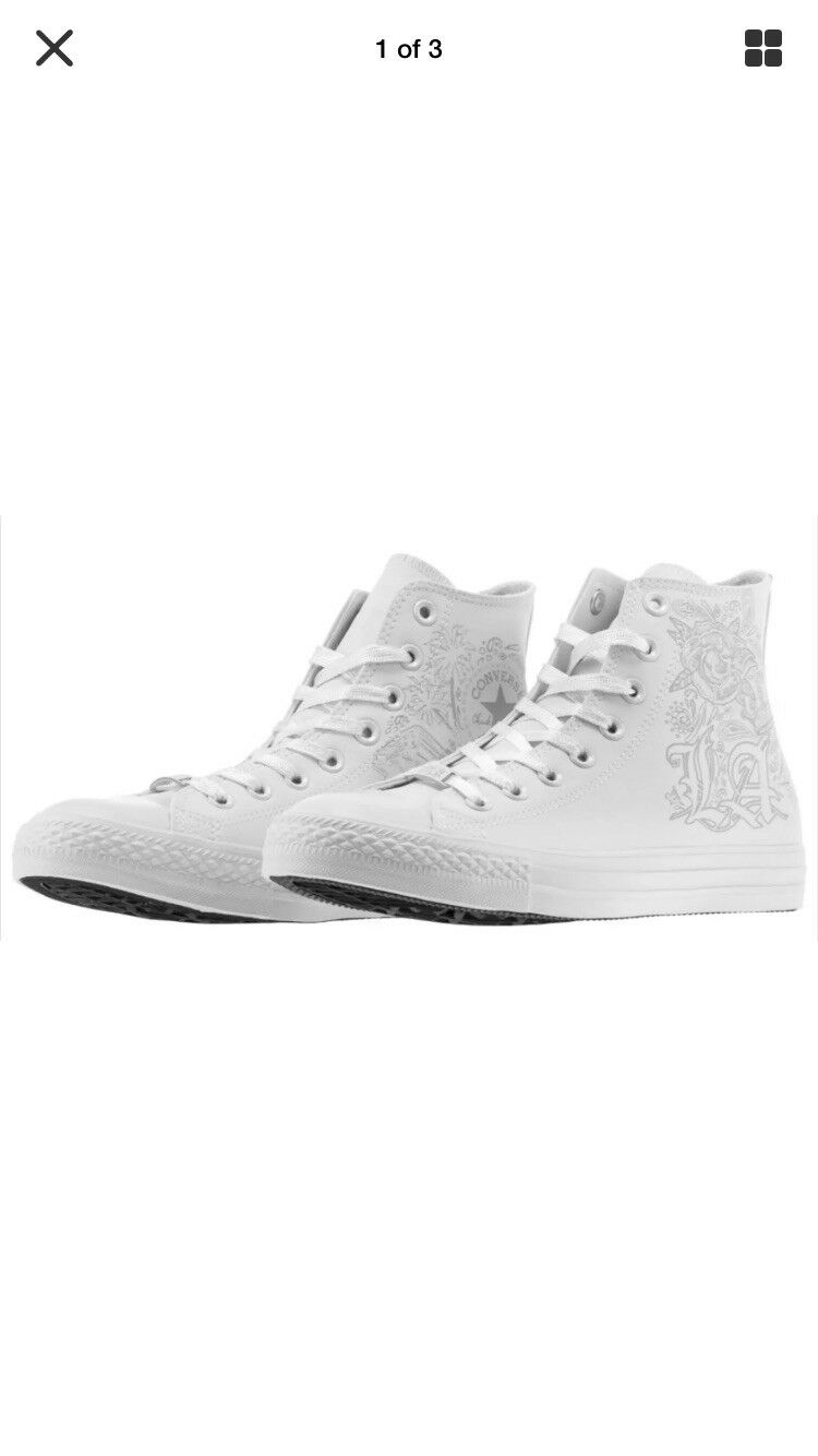 Converse Blanc Homme High Top Fashion Baskets Chaussures Homme 9