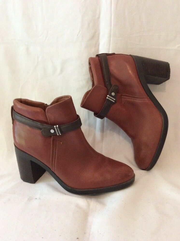 Autograph Brown Ankle Leather Boots Size 6