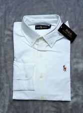 Ralph Lauren Mens White Slim Fit Long Sleeve Oxford Shirt Formal XL