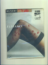 Kunert halterlose Strümpfe m. Muster*ELEGANCE*Gr. 35-37*stay-up stockings*Bas(71