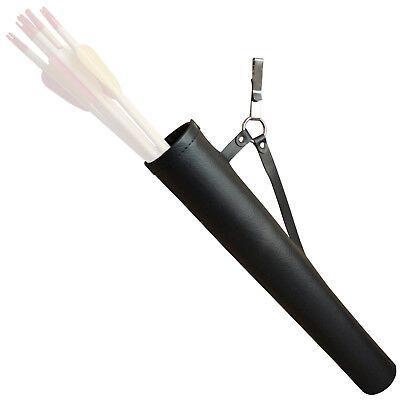 Freccia Faretra Da Ecopelle Nera Con Passante Per Cinturone Arco Frecce Faretra 43 Cm-