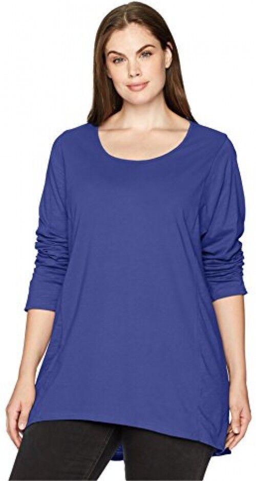 Neon Buddha Womens Plus Size Cedar Top, Cobalt, 2X