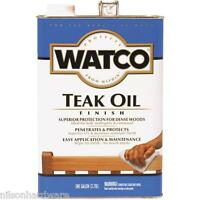 2 Gal Watco Natural Interior Exterior Wood Furniture Door Teak Oil Finish 67131
