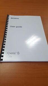 sony xperia s lt26i fully printed instruction manual user guide a5 rh ebay co uk sony xperia s lt26i user manual sony xperia s lt26i user manual