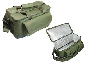 Large green carp insulated bait carryall carp pike sea for Insulated fish bag