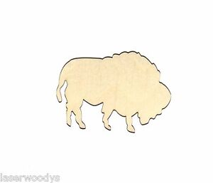 Bison-Buffalo-Unfinished-Flat-Wood-Shapes-Cut-Out-B646-Variety-Szs-Laser-Crafts