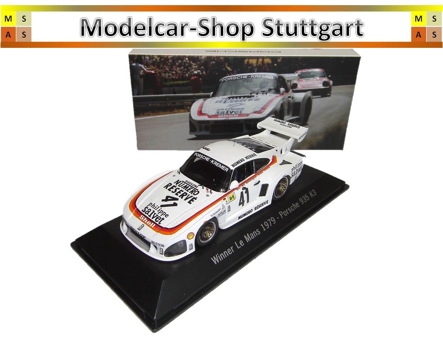 Porsche 935 k3  41 Winner Le Mans 1979 Spark 1 43 map02027913 NEUF