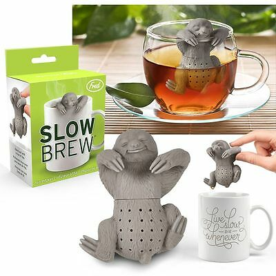 Slow Brew Sloth Tea Infuser Fred Heat-resistant, BPA- phthalate-free silicone