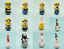Rewe-Ich-einfach-unverbesserlich-3-Sammelkarten-Wobbleez-aussuchen-Minions miniatuur 5