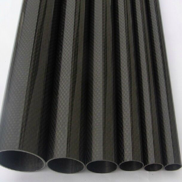 2pcs 20mm22mm1000mm Roll Wrapped autobon Fiber Tube 3K  Worldwide  Glossy  consegna gratuita