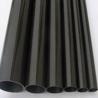 2PCS CARBONMAKE 10mmx8mmx500mm Roll Wrapped 100/% 3K Carbon Fiber Tube Glossy Surface