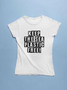 Mantener-el-mar-libre-de-plastico-T-Shirt-proteger-los-mares-guarde-el-oceano-Camisa