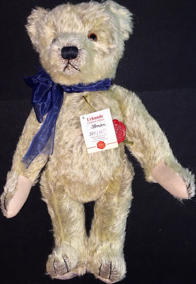 HERMANN Teddy Original  FLORIAN  16  MOHAIR Bear Jointed Plush w/Sound  501/1000