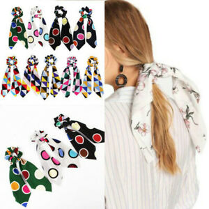 Attractive-Ponytail-Scarf-Elastic-Hair-Rope-Tie-Scrunchies-Bow-Ribbon-Hair-Band