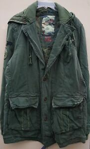 Women`s New JET LAG Hooded Military Parka Coat UK 16 US 12, EU 44 XL Jacket