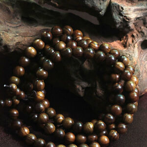 Black-rosewood108-8MM-Buddhist-Prayer-Bead-Mala-Necklace-Bracelet-84cm-Best-UK